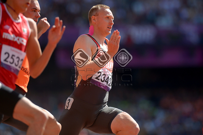 Matthais Schroeder (GER)<br /> Athletics : Men's 200m T-12<br /> Olympic Stadium (Friday 7 Sept)<br /> Paralympics - Summer / London 2012<br /> London England 29 Aug - 9 Sept <br /> © Sport the library / Jeff Crow