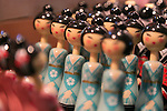 Traditional Japanese dolls on display during the Moshi Moshi Nippon Festival 2016 on November 26, 2016 in Tokyo, Japan. Moshi Moshi Nippon Festival 2016 aims to promote Japanese pop culture (fashion, anime, technology, music and food) to the world, and non-Japanese visitors are able to enter the event for free by showing their passport. This year's two day event included live shows by Japanese pop stars Silent Siren, Dempagumi.inc, Tempura Kids, Capsule and Kyary Pamyu Pamyu at the Tokyo Metropolitan Gymnasium. (Photo by Rodrigo Reyes Marin/AFLO)