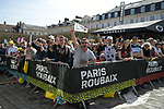 Team presentation before the 116th edition of Paris-Roubaix 2018. 7th April 2018.<br /> Picture: ASO/Pauline Ballet | Cyclefile<br /> <br /> <br /> All photos usage must carry mandatory copyright credit (© Cyclefile | ASO/Pauline Ballet)