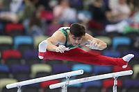 12th March 2020, Baku, Azerbaijan;  2020 Artistic World Cup Gymnastics Tournament;  Isaac Nunez, MEX, during qualification parallel bars