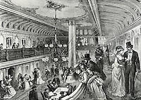 Great Hall Of The River Steamboat Bristol, 1875, Artist Unknown