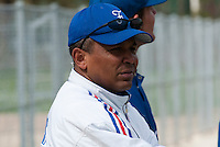 18 April 2006: Coach Gerardo Leroux is seen during the third of seven 2006 MLB European Academy Try-out Sessions throughout Europe, at Stade Pershing, INSEP, near Paris, France. Try-out sessions are run by members of the Major League Baseball Scouting Bureau with assistance from MLBI staff.