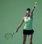 Mona Barthel (GER) loses at the Western and Southern Financial Group Masters Series in Cincinnati on August 15, 2012