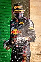 5th September 2021: Circuit Zandvoort, Zandvoort, Netherlands;  Formula 1 Dutch Grand Prix at the CM.com Circuit Zandvoort, Max verstappen wins the dutch Grand Prix and sprays champaign