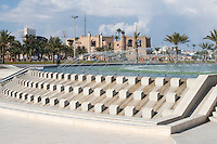 Tripoli, Libya - Green Square Fountain, National Museum in Background