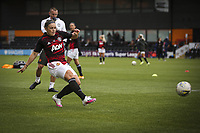 10th October 2020, The Hive, Canons Park, Harrow, England; Kirsty Hanson  Manchester United, ManU shoots in the warm up during for womens Super League game between Tottenham Hotspur and Manchester United