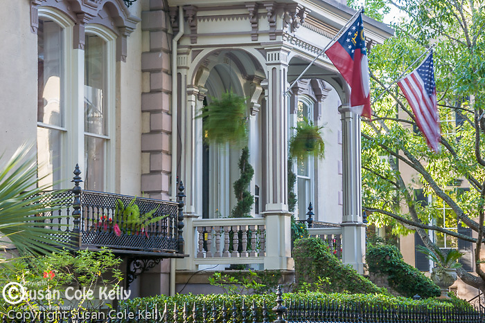 The Hamilton-Turner House (Second French Empire architecture), in Lafayette Square, Savannah, GA, the largest National Historic Landmark District in the United States.