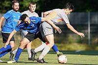 Daniel Akmadzic (Königstädten) gegen Serdar Anis (Trebur) -  Königstädten 19.09.2021: Alemannia Königstädten vs. SG Trebur-Astheim