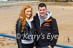 Enjoying a stroll in Ballybunion on Easter Sunday, l to r: Michelle Wall and Declan Cullhane.