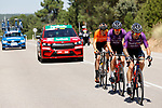 The breakaway with Angel Madrazo Ruiz and Carlos Canal (ESP) Burgos-BH and Joan Bou (ESP) Euskaltel-Euskadi during Stage 4 of La Vuelta d'Espana 2021, running 163.9km from Burgo de Osma to Molina de Aragon, Spain. 17th August 2021.    <br /> Picture: Luis Angel Gomez/Photogomezsport | Cyclefile<br /> <br /> All photos usage must carry mandatory copyright credit (© Cyclefile | Luis Angel Gomez/Photogomezsport)