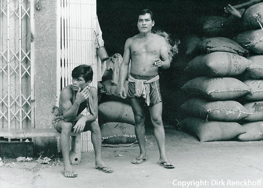 Arbeiter in Bangkok, Thailand 1972