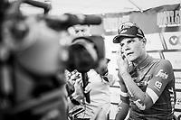race winner Jasper Stuyven (BEL/Trek-Segafredo) interviewed on live tv<br /> <br /> 59th Grand Prix de Wallonie 2018 <br /> 1 Day Race from Blegny to Citadelle de Namur (BEL / 206km)