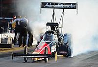 Jun. 17, 2011; Bristol, TN, USA: NHRA top fuel driver Rod Fuller during qualifying for the Thunder Valley Nationals at Bristol Dragway. Mandatory Credit: Mark J. Rebilas-