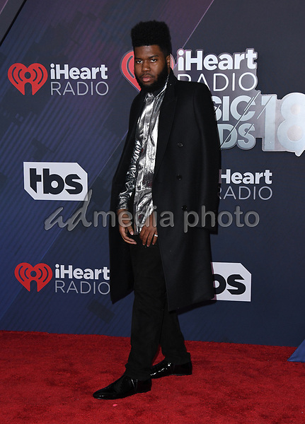11 March 2018 - Inglewood, California - Khalid. 2018 iHeart Radio Awards held at The Forum. Photo Credit: Birdie Thompson/AdMedia