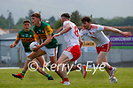 Gavin White, Kerry, in action against Matthew Donnelly, Tyrone, during the Allianz Football League Division 1 Semi-Final, between Tyrone and Kerry at Fitzgerald Stadium, Killarney, on Saturday.