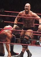 Stone Cold  Steve Austin  Kurt Angle 2001                                                                    By John Barrett/PHOTOlink
