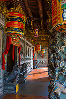 George Town, Penang, Malaysia.  Entry Terrace to Khoo Kongsi, a Hokkien Chinese Temple and Clan House.