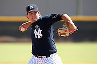New York Yankees minor league pitcher Thomas Kahnle (60) vs. the Pittsburgh Pirates in an Instructional League game at the New York Yankees Minor League Complex in Tampa, Florida;  October 8, 2010.  Photo By Mike Janes/Four Seam Images