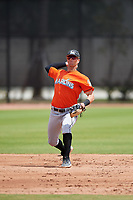 Miami Marlins Micah Brown (41) during a Minor League Spring Training game against the Washington Nationals on March 28, 2018 at FITTEAM Ballpark of the Palm Beaches in West Palm Beach, Florida.  (Mike Janes/Four Seam Images)