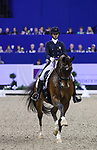 OMAHA, NEBRASKA - APR 1: Laura Graves rides Verdades during the FEI World Cup Dressage Final II at the CenturyLink Center on April 1, 2017 in Omaha, Nebraska. (Photo by Taylor Pence/Eclipse Sportswire/Getty Images)