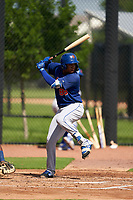 GCL Mets William Lugo (88) at bat during a Gulf Coast League game against the GCL Astros on August 10, 2019 at FITTEAM Ballpark of the Palm Beaches Training Complex in Palm Beach, Florida.  GCL Astros defeated the GCL Mets 8-6.  (Mike Janes/Four Seam Images)