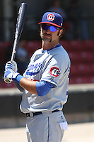 Scott Van Slyke #16 of the Chattanooga Lookouts in the on deck circle during a game against the Carolina Mudcats on May 9, 2010 in Zebulon, NC. Scott is the son of former major leaguer Andy Van Slyke.