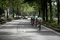 Team Dimension Data during the morning course reconnaissance <br /> <br /> Stage 2 (TTT): Brussels to Brussels(BEL/28km) <br /> 106th Tour de France 2019 (2.UWT)<br /> <br /> ©kramon
