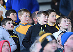 Young Ballyea fans cheer on their team near the end of the county senior hurling final at Cusack Park. Photograph by John Kelly.