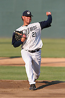 Fort Wayne Wizards Fabian Jimenez during a Midwest League game at Memorial Stadium on July 17, 2006 in Fort Wayne, Indiana.  (Mike Janes/Four Seam Images)