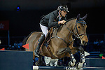 Gregory Wathelet of Belgium riding Lilly Lordanos during the Hong Kong Jockey Club Trophy competition, part of the Longines Masters of Hong Kong on 10 February 2017 at the Asia World Expo in Hong Kong, China. Photo by Victor Fraile / Power Sport Images