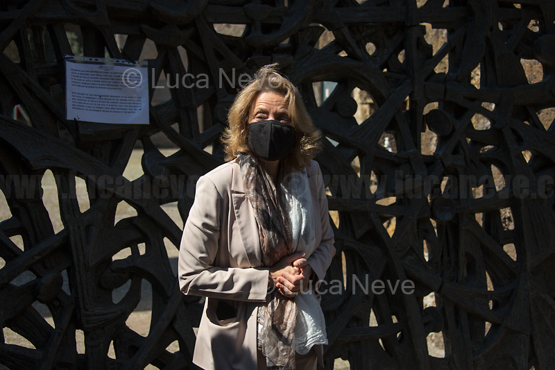 Noemi Di Segni, President of the United Italian Jewish Communities. <br /> <br /> Rome, Italy. 24th Mar, 2021. Today, Citizens of Rome, Antifascists, various organizations, Institutions and the President of the Italian Republic, Sergio Mattarella, pay tribute to the victims of the Fosse Ardeatine massacre in which, 77 years ago, on the 24th March 1944, 335 people were assassinated by the nazi-fascist occupation troupes in Rome. It was one of the most atrocious massacre perpetrated during World War II for retaliation against the Resistance and the Civilians.    <br /> <br /> Footnotes & Links:<br /> (Source, Treccani.it ITA) http://bit.do/fPZXL <br /> (Source, Jewishvirtuallibrary.org ENG) http://bit.do/fPZXu<br /> (Source, Wikipedia.org ENG) http://bit.do/fPZXW <br /> Today's Events: https://www.facebook.com/events/4526526500707783/ & https://www.facebook.com/events/1096587897511737/