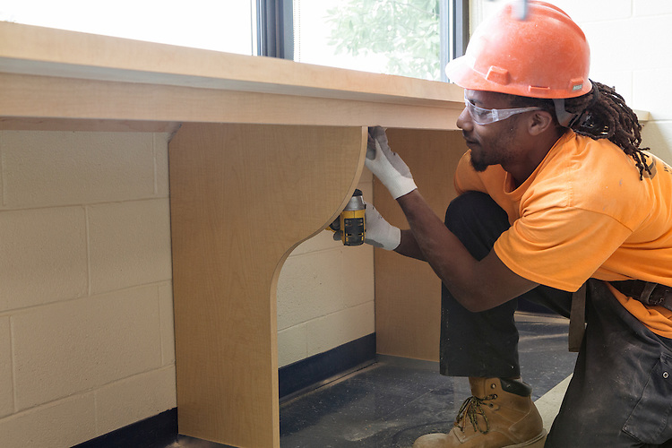 St. Paul School Casework & Drywall Job Site Photography | Corna-Kokosing