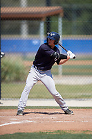 New York Yankees center fielder Blake Rutherford (23) at bat during a minor league Spring Training game against the Toronto Blue Jays on March 30, 2017 at the Englebert Complex in Dunedin, Florida.  (Mike Janes/Four Seam Images)