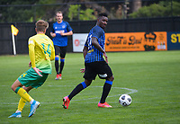 Joao Moreira during the Central League football match between Miramar Rangers and Lower Hutt AFC at David Farrington Park in Wellington, New Zealand on Saturday, 10 April 2021. Photo: Dave Lintott / lintottphoto.co.nz