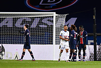 24th December 2020; Paris, France; French League 1 football, Paris St Germain versus Strasbourg;   Goal celebrations from  PSG after the goal from Bioty Moise KEAN