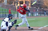 GREENSBORO, NC - FEBRUARY 25: Dan Ryan #10 of Fairfield University hits the ball during a game between Fairfield and UNC Greensboro at UNCG Baseball Stadium on February 25, 2020 in Greensboro, North Carolina.