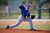 New York Mets Pitcher Alex Palsha (23) during a minor league Spring Training game against the St. Louis Cardinals on March 28, 2017 at the Roger Dean Stadium Complex in Jupiter, Florida.  (Mike Janes/Four Seam Images)