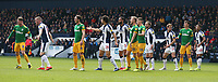 Players jostle for position as they wait for a free kick<br /> <br /> Photographer Stephen White/CameraSport<br /> <br /> The EFL Sky Bet Championship - West Bromwich Albion v Preston North End - Saturday 13th April 2019 - The Hawthorns - West Bromwich<br /> <br /> World Copyright © 2019 CameraSport. All rights reserved. 43 Linden Ave. Countesthorpe. Leicester. England. LE8 5PG - Tel: +44 (0) 116 277 4147 - admin@camerasport.com - www.camerasport.com