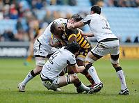 Photo: Richard Lane/Richard Lane Photography. Wasps v Ospreys. Anglo-Welsh Cup. 05/02/2017. Wasps' Simon McIntyre attacks.