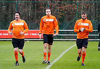 Referees warm up before a female soccer game between Standard Femina de Liege and RSC Anderlecht on the 9th matchday of the 2020 - 2021 season of Belgian Scooore Womens Super League , saturday 12 th of December 2020  in Angleur , Belgium . PHOTO SPORTPIX.BE | SPP | SEVIL OKTEM