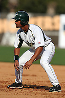 """University of South Florida James Ramsay #15 during a game vs. the Miami Hurricanes in the """"Florida Four"""" at George M. Steinbrenner Field in Tampa, Florida;  March 1, 2011.  USF defeated Miami 4-2.  Photo By Mike Janes/Four Seam Images"""