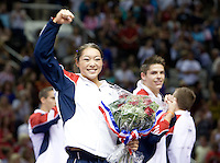 Anna Li of Legancy Elite waves to the fans after being named for replacement athlete for USA Women's Gymnastics team to London 2012 during 2012 US Olympic Trials Gymnastics Finals at HP Pavilion in San Jose, California on July 1st, 2012.