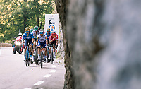 Carlos Verona (ESP/Movistar) & Julian Alaphilippe (FRA/Deceuninck-QuickStep) are part of the large breakaway group on their way to the Col de Porte<br /> <br /> Stage 16 from La Tour-du-Pin to Villard-de-Lans (164km)<br /> <br /> 107th Tour de France 2020 (2.UWT)<br /> (the 'postponed edition' held in september)<br /> <br /> ©kramon