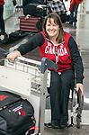 Ina Forrest, Sochi 2014.<br /> Team Canada arrives at the airport in Sochi for the Sochi 2014 Paralympic Winter // Équipe Canada arrive à l'aéroport de Sotchi pour Sochi 2014 Jeux paralympiques d'hiver. 03/03/2014.