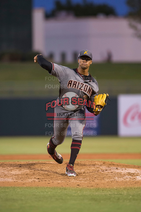 AFL East relief pitcher Jon Duplantier (31), of the Salt River Rafters and the Arizona Diamondbacks organization, delivers a pitch during the Fall Stars game at Surprise Stadium on November 3, 2018 in Surprise, Arizona. The AFL West defeated the AFL East 7-6 . (Zachary Lucy/Four Seam Images)