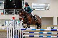 NZL-Maya Hegh rides Triple Star One of a Kind. Class 28: Trev Terry Marine Pony 1.15m-1.20m - FINAL. 2021 NZL-Easter Jumping Festival presented by McIntosh Global Equestrian and Equestrian Entries. NEC Taupo. Sunday 4 April. Copyright Photo: Libby Law Photography