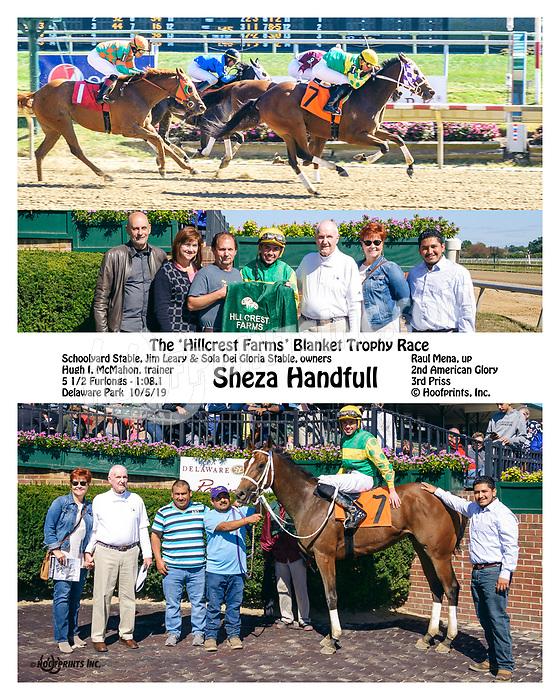 Sheza Handful winning at Delaware Park on 10/5/19