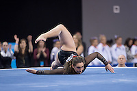 LOS ANGELES, CA - April 19, 2013:  Stanford's Samantha Shapiro competes on floor exercise during the NCAA Championships at UCLA.