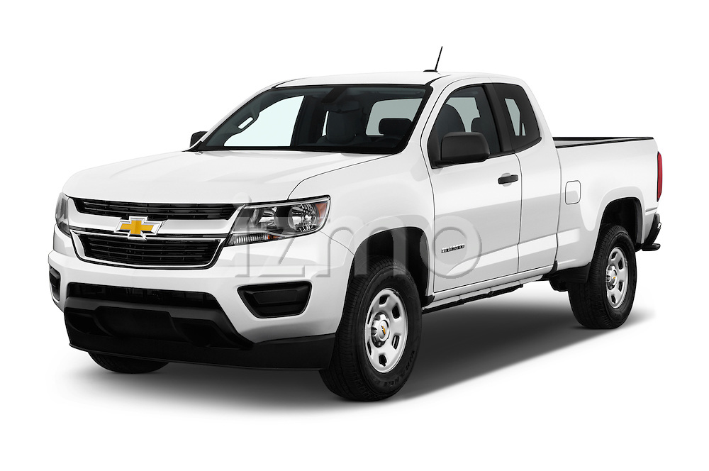 2017 Chevrolet Colorado 2WD wt Extended Cab 3 Door Pick-up Angular Front stock photos of front three quarter view