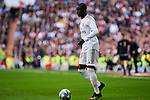 Ferland Mendy of Real Madrid during La Liga match between Real Madrid and Atletico de Madrid at Santiago Bernabeu Stadium in Madrid, Spain. February 01, 2020. (ALTERPHOTOS/A. Perez Meca)